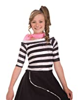 Forum Child 50's Sock Hop Top, X-Large, Black/White