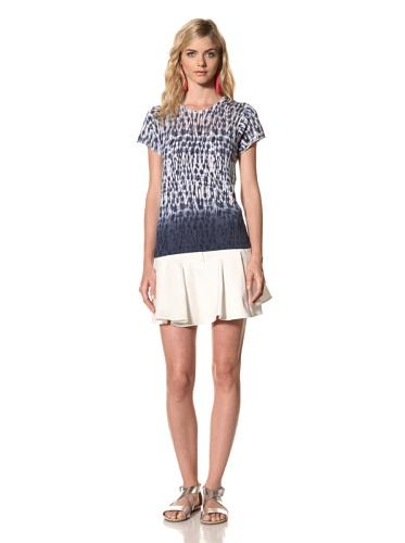 Thakoon Addition Women's Tie Dye Short Sleeve Sweater (Navy)