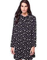Polka Dot Pussy Bow 3/4 Shift Dress