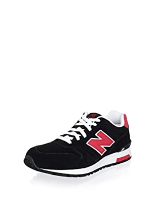 New Balance Men's ML565 Lifestyle Running Lace-Up Fashion Sneaker (Black/Red)