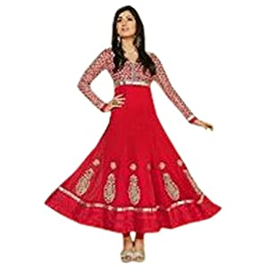 Disha Parmar(Pankhuri) Deep Pink Colour Faux Georgette Anarkali Salwar Kameez