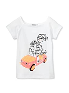 Sonia Rykiel Girl's Sparkle Car Tee (White)
