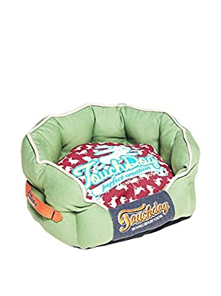 Touchdog Rabbit-Spotted Rounded Dog Bed
