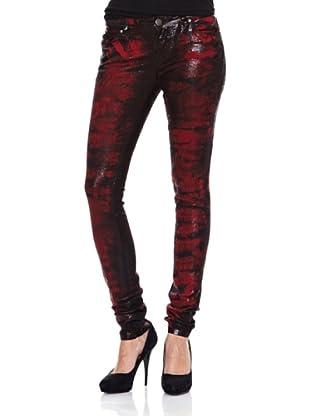 Heartless Jeans Pantalón Vaquero Foil (Negro / Rojo)