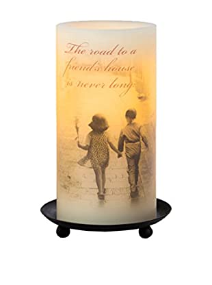 Candle Impressions Flameless Candle Pillar with Friendship Sentiment