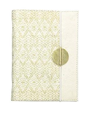 Marina Vaptzarov Printed Vegetal Leather Cover Journal, White