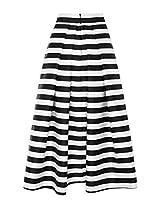 The Sewing Machine Black White Stripe Skirt