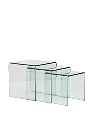 Beistelltisch 3er Set transparent