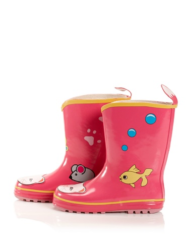 Kidorable Lucky Cat Rain Boot (Toddler/Little Kid) (Pink)