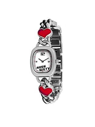Miss Sixty SQZ004 - Reloj para niñas de cuarzo, correa de acero inoxidable color plata