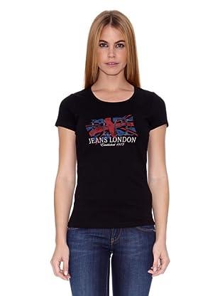 Pepe Jeans London Camiseta New Wilma (Negro)