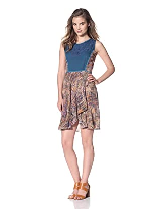 San & Soni Women's Chelsea Dress (B'Way Junction Print)