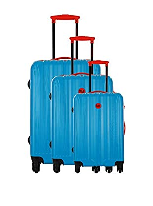 Bag Stone Set de 3 trolleys rígidos Night Azul