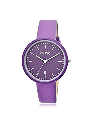 Crayo Women's CRACR2409 Easy Lavender Leather Watch