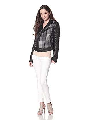 Cote by IMPROVD Women's Gia Combo Leather Moto Jacket (Black)