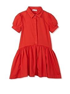 eggi kids Girl's Shirt Dress (High Risk Red)