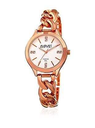 August Steiner Uhr mit japanischem Quarzuhrwerk Woman rosé 33.5 mm