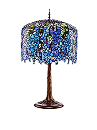 River Of Goods Tiffany Inspired Grand Wisteria Table Lamp, Multi