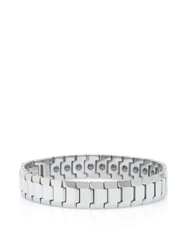GÖTZ Switzerland Beveled Snake Link Bracelet, Silver