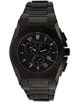 Kenneth Cole New York Black Ip Chronograph Mens Watch Kc9300