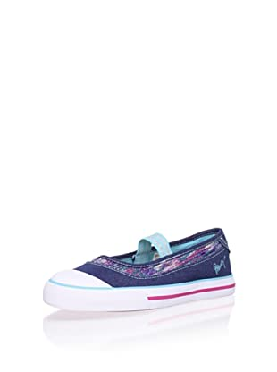 Pablosky Kid's Glitter-Trim Mary Jane (Navy)