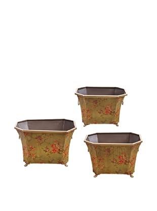 Winward Set of 3 Hand-Crafted Garden Flower Pots