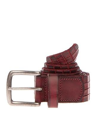 PEDRO DEL HIERRO Cinturón Grabado (Burdeos)