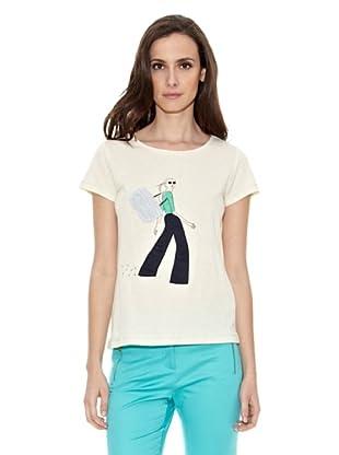 Cortefiel Camiseta Chica Jeans (Crudo)