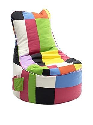 Sitting Bull Cojín Puff Niño Chill Mini Patchwork Multicolor