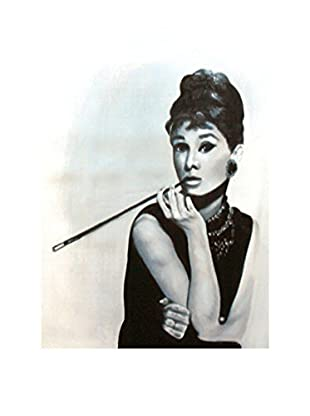 LegendArte Pintura al Óleo sobre Linezo Diva Sofisticata 50X70