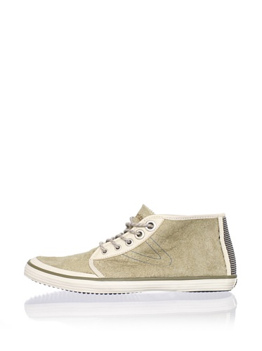 Tretorn Men's Krona Mid Leather Chukka Sneaker (Sailing Gray)