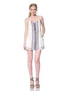 Dolce Vita Women's Garbo Tank Dress with Tie Waist (Blue/White)