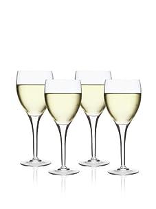 Luigi Bormioli Set of 4 Michelangelo Masterpiece Wine Glasses