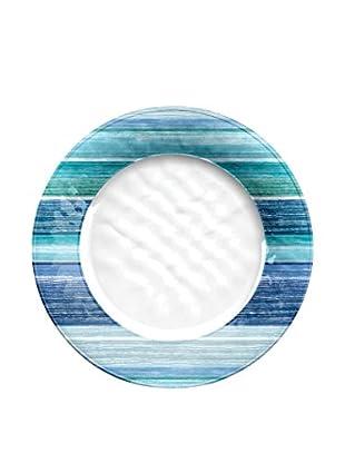 Oceanside Stripe Melamine Dinner Plate, Multi