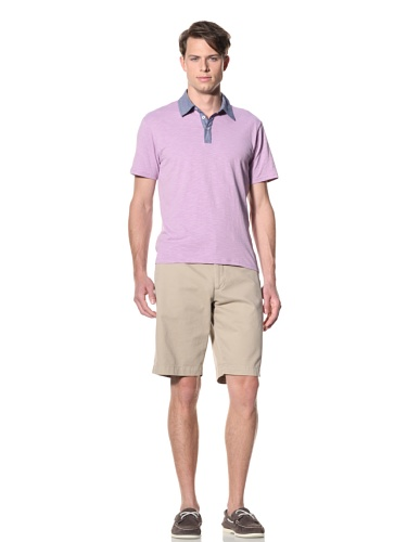 Report Collection Men's Contrast Polo (Lavender)