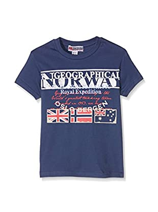 GEOGRAPHICAL NORWAY T-Shirt T Shirt Col Rond