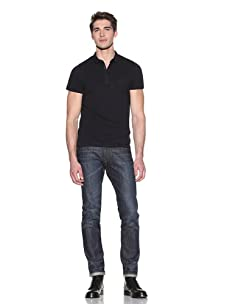 French Connection Men's Dry Curtains Jersey Polo (Darkest Blue)