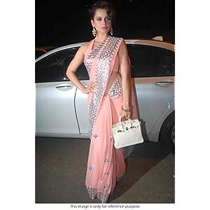 Bollywood Replica Kangana Ranaut Chiffon and Dhupion Saree In Baby Pink Colour NC492