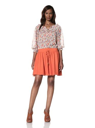 Dallin Chase Women's Pio Flared Skirt (Orange)