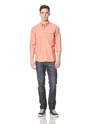 Cutter and Buck Men's LA Hayton Park Chambray Shirt (Alert)