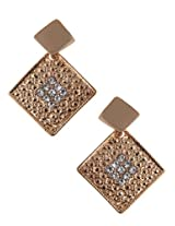 Sparkling Crystal Studded Drop Earrings