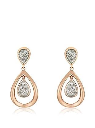 Bentelli Pendientes Oro Rosa / Oro Blanco