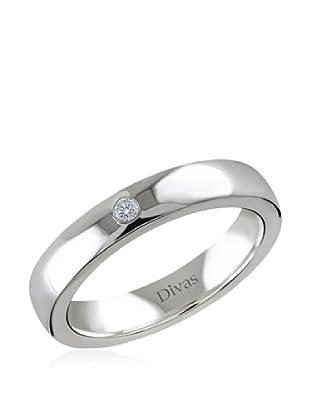 Divas Diamond Anillo Diamante Engagement (Plata)