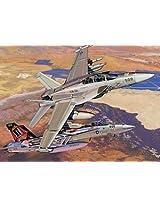 "1/144 Ea-18g ""Growler"" Vx-31 ""Dust Devils"" + F/A-18e Super Hornet Vfa-14 ""Tophatters"" (Twin Pack)"