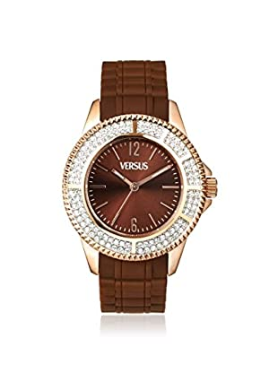 Versus by Versace Women's SGM060013 Tokyo Crystal Brown Rubber Watch