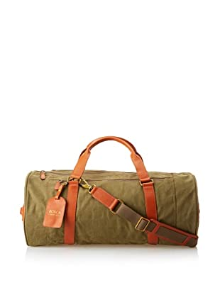 Bosca Men's Correspondent Expedition Duffel (Chestnut/Olive)