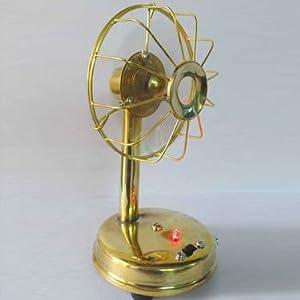 Buyersden Brass Table Fan, Golden