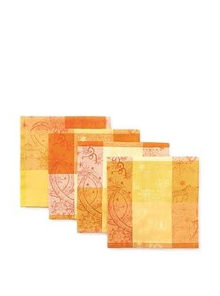 Garnier-Thiebaut Set of 4 Mille Couleurs Napkins (Soleil)