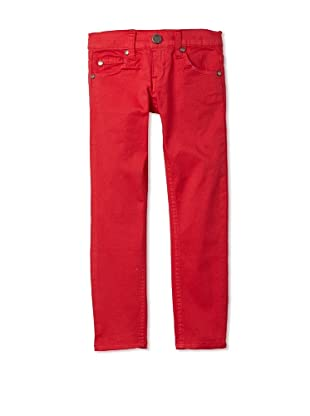 Pinc Premium Girl's Colored Skinny Pant (Red)