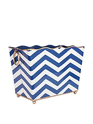Jayes Chevron Rectangular Magazine Holder, Navy